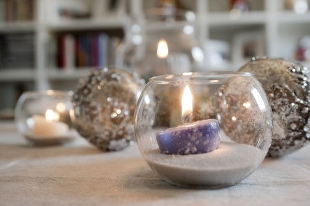 Bubble Glass and Candles